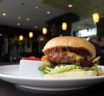 Prescription Burger with a side of Bloody Mary at  L Wine Lounge Sacramento, CA