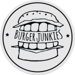 clear black burgerjunkies sticker