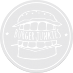 clear white burgerjunkies sticker