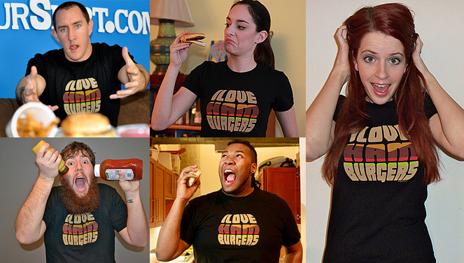 I Wear Your Shirt Gang in I Love Hamburgers T-Shirts