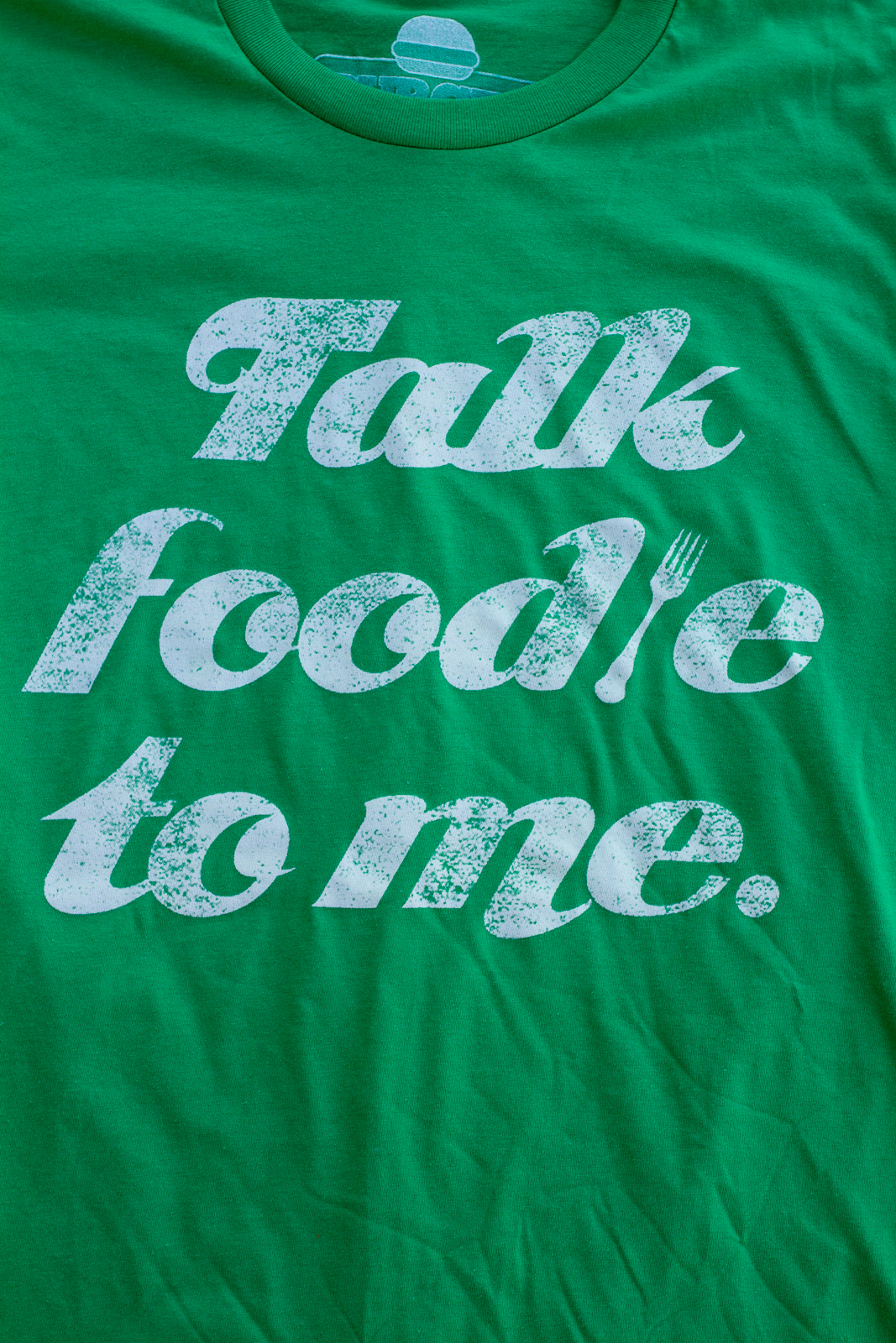 The Talk Foodie To Me Design front and center