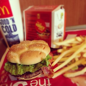 McDonald's Habanero Ranch Quarter Pounder with Cheese Instagram photo
